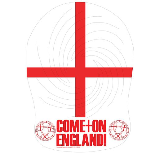 Come On England St George's Flag Card Spiro Hats