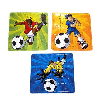 Football Jigsaw Puzzle - 13cm X 13cm - 3 Assorted