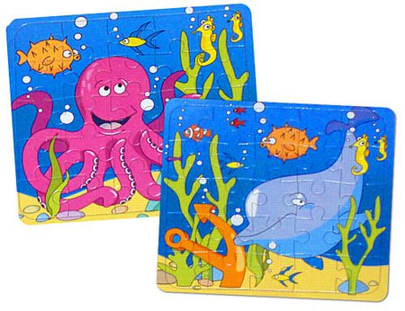 Under Sea Jigsaw Puzzle - 13cm X 13cm - Assorted designs - each