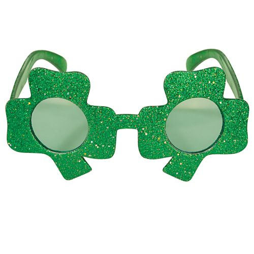 Shamrock Glitter Glasses