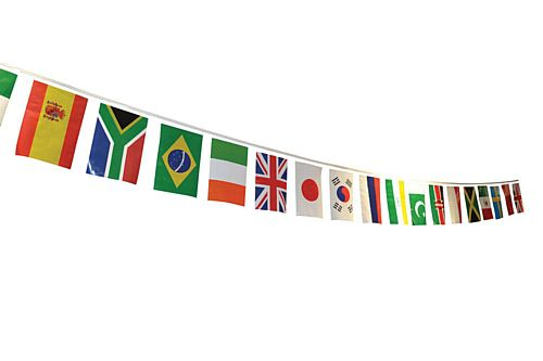International World Flag PVC Bunting - 25 Flags - 7m