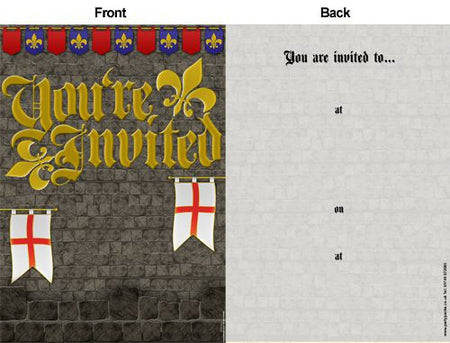 Click to view product details and reviews for St Georges Day Medieval Themed Invites Pack Of 8.