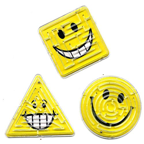Mini Smiley Maze Puzzle - Assorted Designs - Each