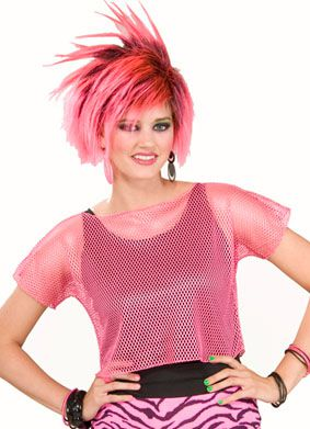 Neon Pink Mesh Top - One Size