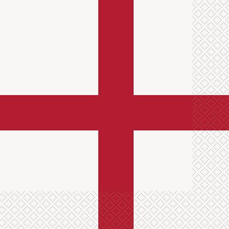 England St George's Flag 2 Ply Luncheon Napkins - Pack of 16