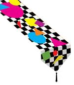 Printed Party Shapes Paper Table Runner - 1.83m