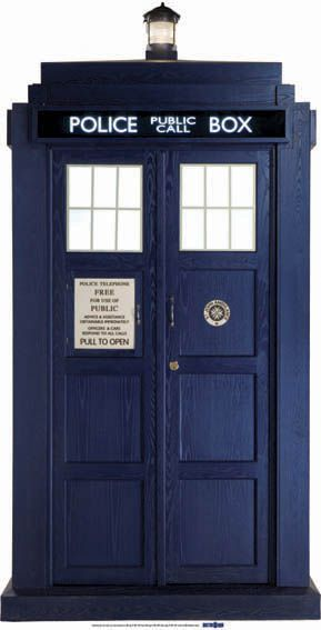 The New Tardis Cardboard Cutout - 1.92m