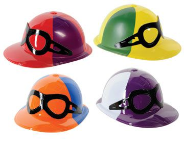 Assorted Design Plastic Jockey Helmets  - Each