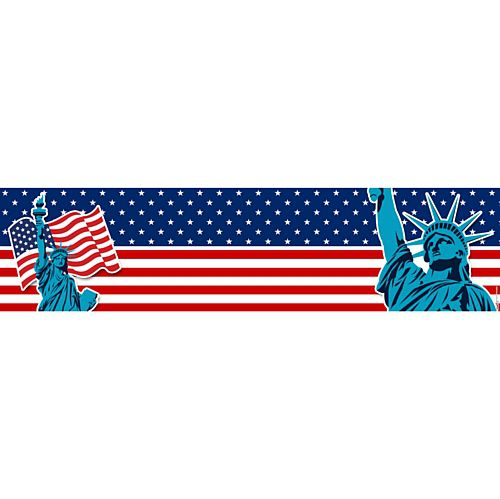 American Flag and Statue of Liberty Banner - 1.2m