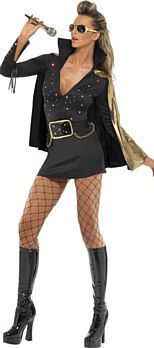 Elvis Viva Las Vegas Costume - Black and Gold