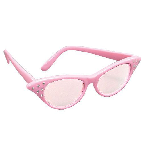 Pink 50's Style Glasses
