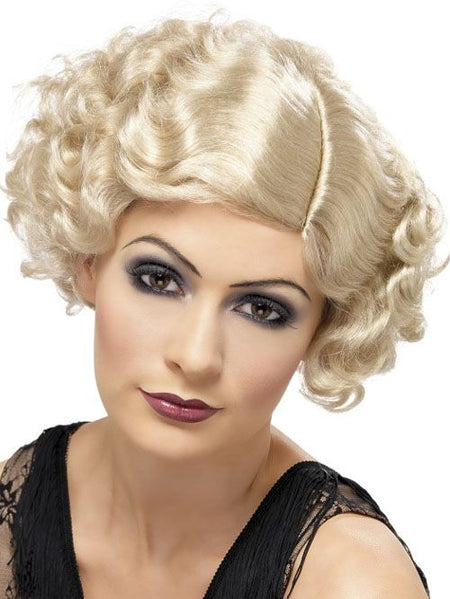 Click to view product details and reviews for 1920s Flapper Wig Blonde.