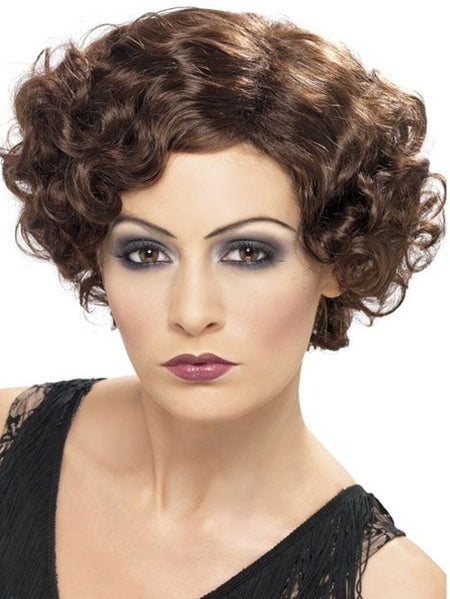 Click to view product details and reviews for 1920s Flapper Wig Brown.