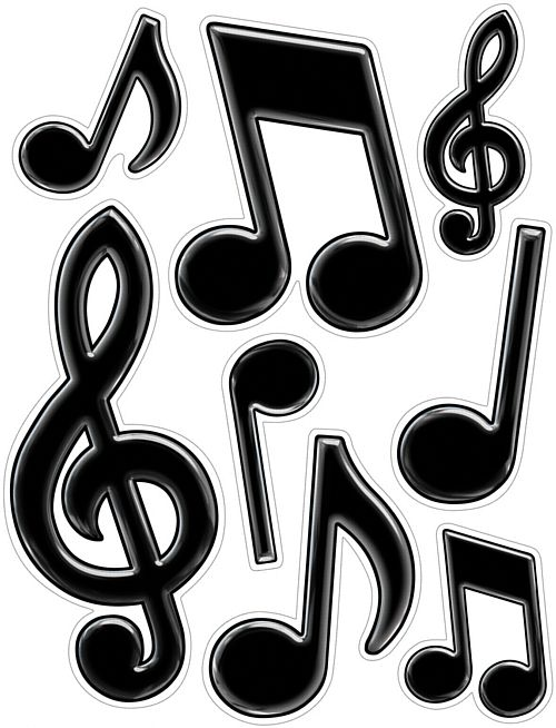Musical Notes Peel 'n' Place - Sheet of 8