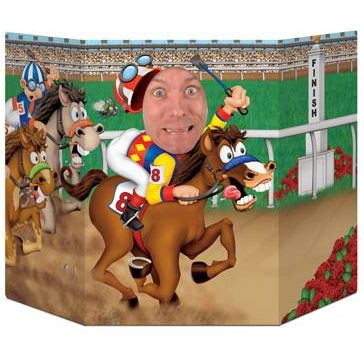 Horse Racing Stand-In Photo Prop - 94cm