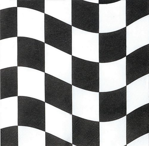 Black and White Checkered 2ply Luncheon Napkins - 33cm - Pack of 18