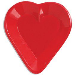 Heart Snack Tray - 15.2cm - Each