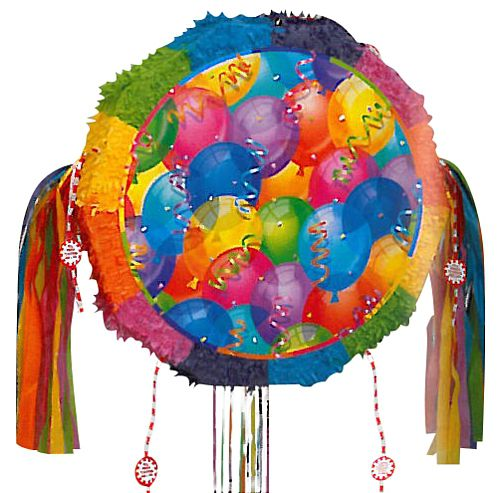 Brill Balloons Drum Pop-Out Pull Pinata - 18""