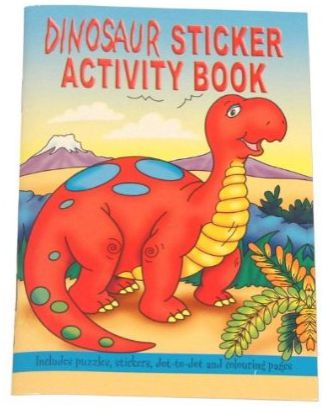 Dinosaur Sticker Activity Book - 36 Pages - Each