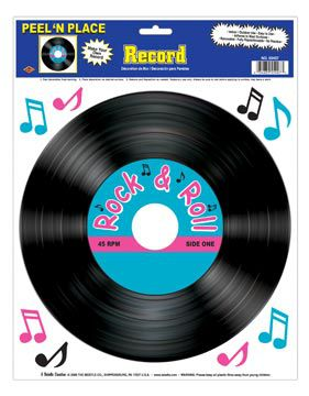"Record Peel 'n' Place - 1 Sheet - Includes Musical Notes - 12"" x 15"""