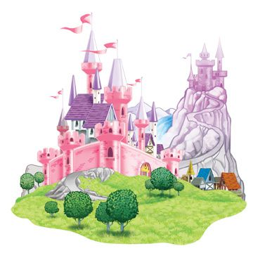 "5'1"" X 5' Princess Castle Prop - Each"