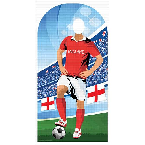 England Football Supporter Stand-In Cardboard Cutout - 1.9m