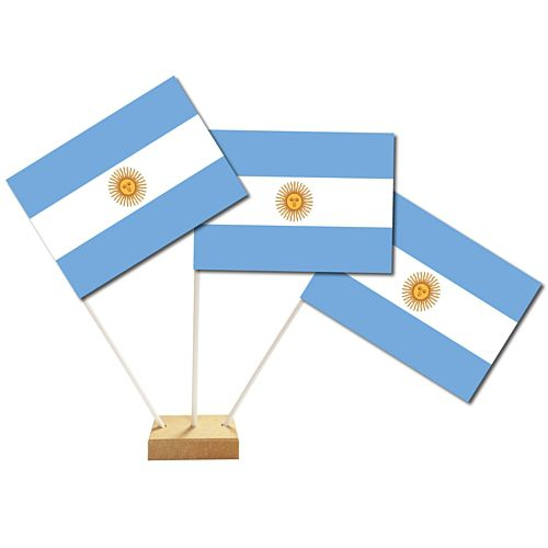 "Argentinian Table Flag 6"" on 10"" Pole"