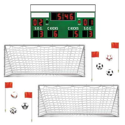 Football Pitch Wall Decorations - 93.3cm - 13 Per Sheet