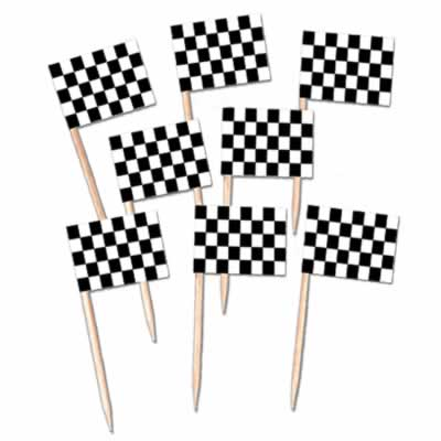 "Racing Flag Picks - 2.5"" - Pack of 50"