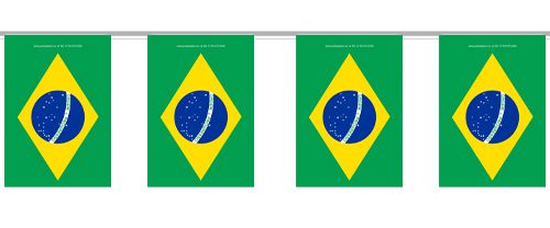 Brazilian Small Flag Interior Bunting - 2.4m
