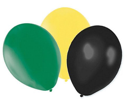 Yellow Green And Black Latex Balloons 10 Pack Of 50