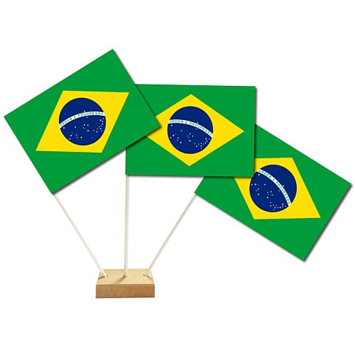 "Brazilian Table Flags 6"" on 10"" Pole"