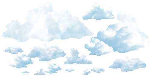 Fluffy Cloud Backdrop - 84cm x 1.65m - Pack of 2
