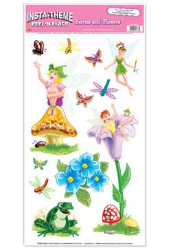 Fairies and Flowers Peel 'n' Place - 12'' x 24''