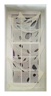 Click to view product details and reviews for Halloween Spooky White Gauze Window Door Decoration 76cm.