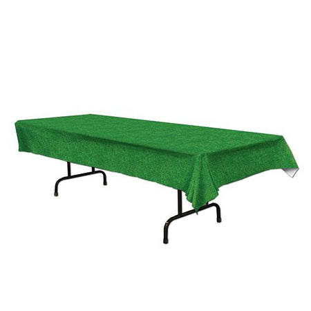 Grass Print Plastic Tablecloth - 2.8m