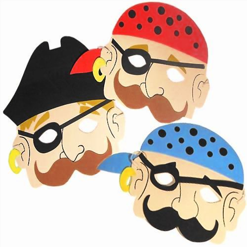 Assorted Pirate Foam Masks - Each