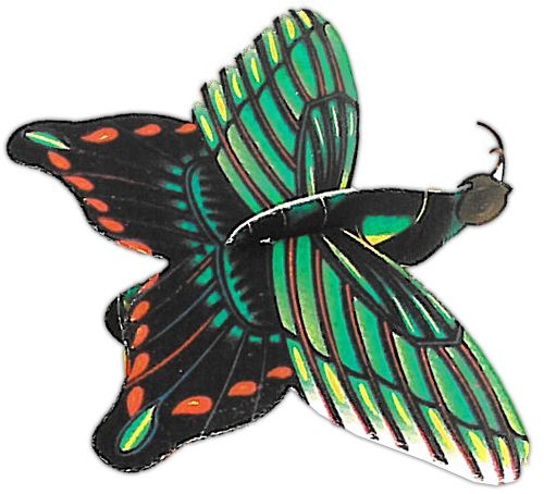 Butterfly Glider - 17cm x 12.5cm - Assorted Designs - Each