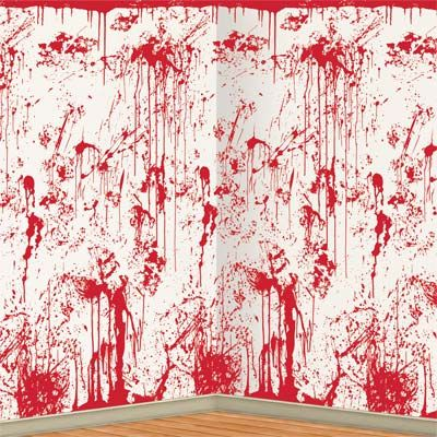 Bloody Wall Backdrop - 4' x 30'