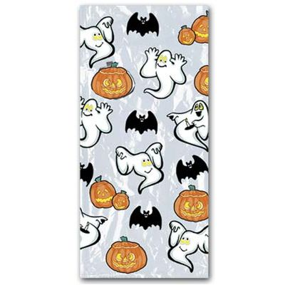 Pumpkin & Ghost Cello Bags - Pack of 25