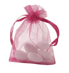 Organza Hot Pink Bags - Pack of 10
