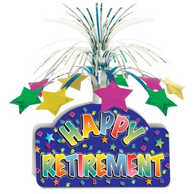 Happy Retirement Centrepiece - 13""