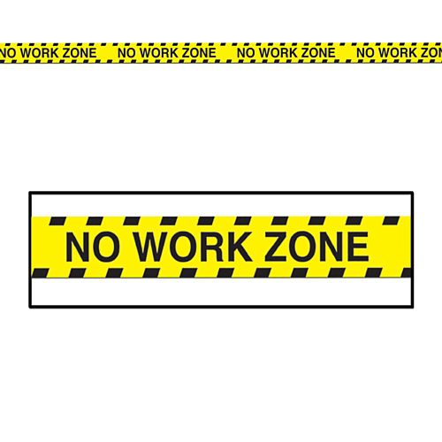 No Work Zone Party Tape - 6.1m