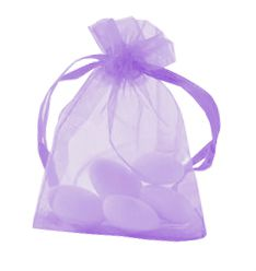 Lilac Organza Bags - Pack of 10