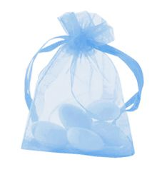 Light Blue Organza Bags - Pack of 10