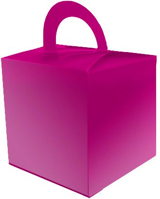 Hot Pink Favour Box - 6.5cm - Each