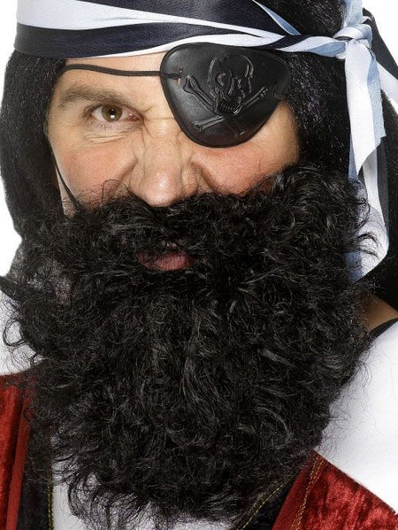 Pirate Beard, Deluxe - Black