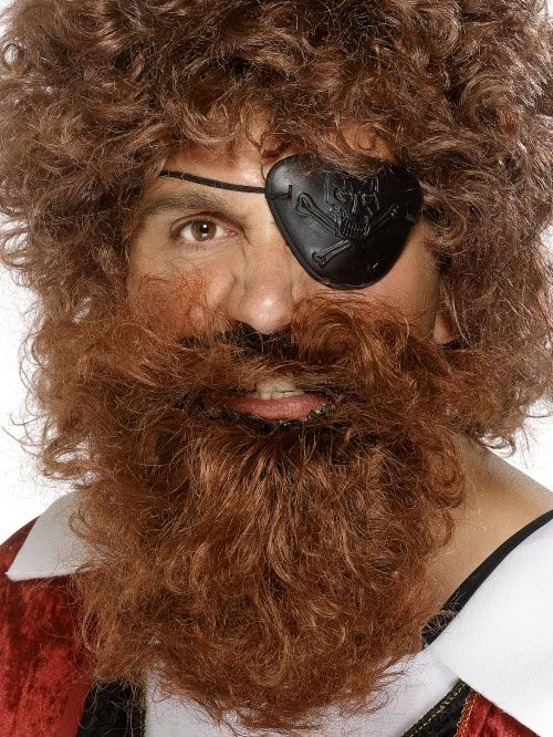 Pirate Beard, Deluxe, Brown,