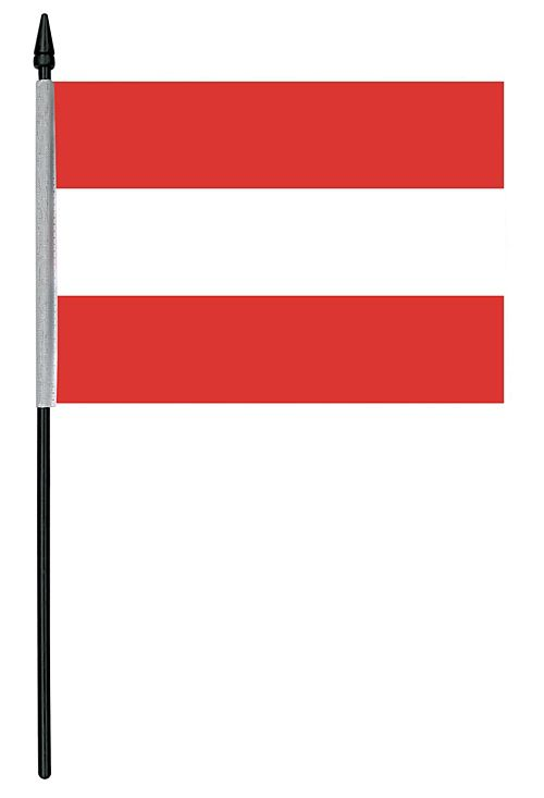 "Austrian Cloth Table Flag - 4"" x 6"""