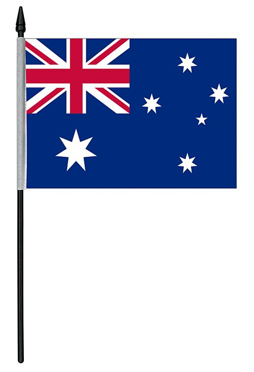 "Australian Cloth Table Flag - 4"" x 6"""